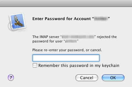 Missing Mac Mail Password