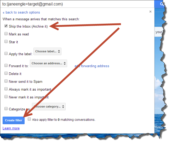 how to go to archive in gmail