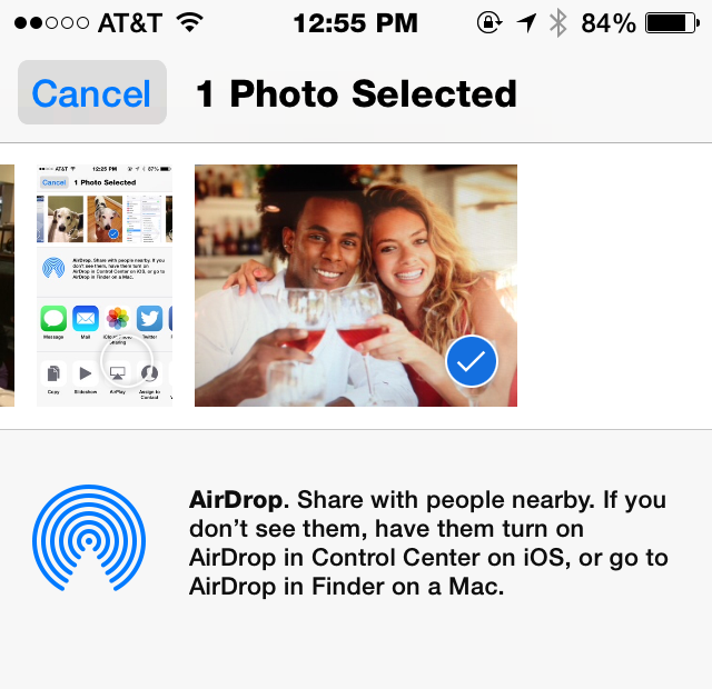 How to trade photos without using your data plan (iOS)