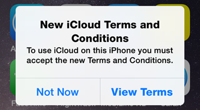 Get me out of iCloud T&C Hell! - Practical Help for Your