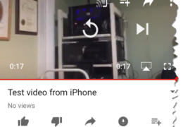 iPhone to Youtube