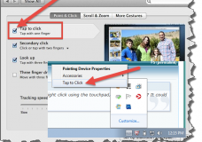 turn off tap to click in Mac and Windows