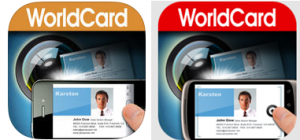WorldCard Mobile icons for Apple and Android