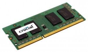 Image of RAM chip (SODIMM), image from crucial.com