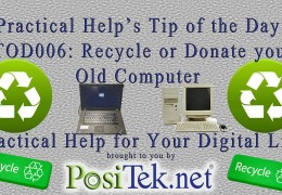 Old computer? Donate or Recycle!