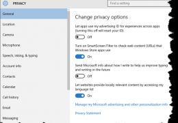 Windows 10 Privacy