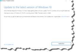 No Win10 Update