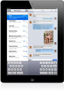 how do i delete messages on my ipad air
