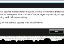 Lenovo Critical Updates