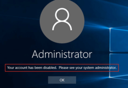 Win10 Admin Account Disabled