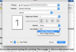 Mac Word 2-sided Printing