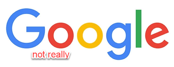 Looks like Google, but doesn't take you to Google!